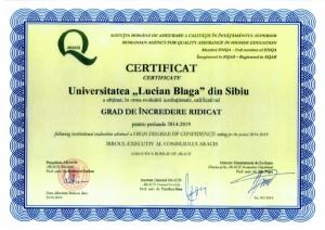 Certificat ARACIS