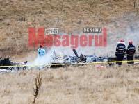 Un elicopter militar s-a prăbușit în nordul județului Sibiu! GALERIE FOTO