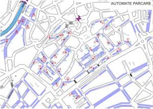 Harta - 36 automate de parcare