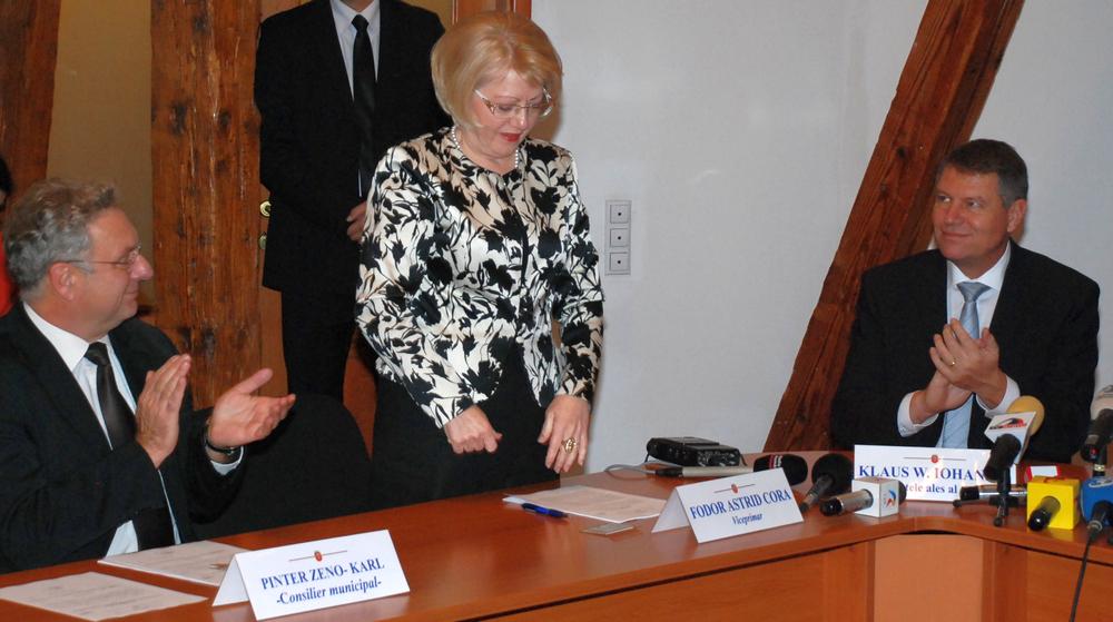 Iohannis a salutat alegerea colegei sale din Forumul German, Astrid Fodor, în funcția de primar interimar