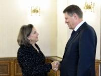 Klaus Iohannis și Victoria Nuland   foto: monitorulcj.ro