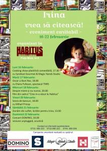 """SĂPTĂMÂNA """"IRINA VREA SĂ CITEASCĂ"""" LA LIBRĂRIA HABITUS (16 – 22 FEBRUARIE 2015)"""