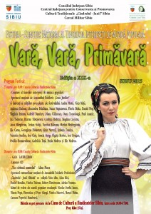 """A început numărătoarea inversă până la cea XIX-a ediţie a Festivalului """"Vară, Vară, Primăvară""""! 26 – 28 martie 2015"""
