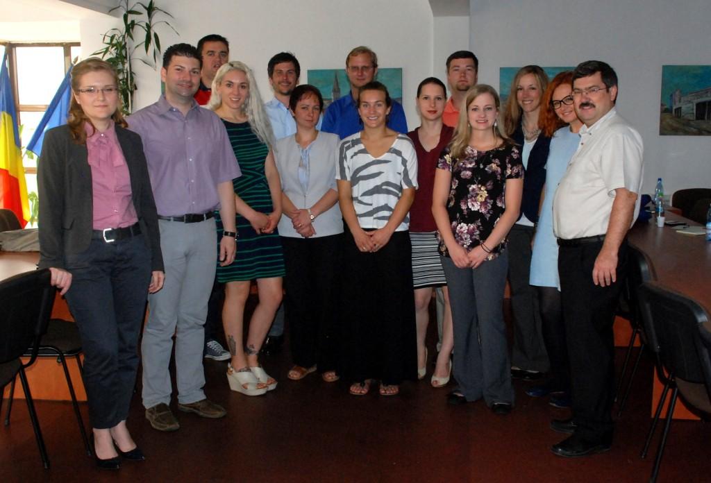 Studenți americani învață marketing în Sibiu