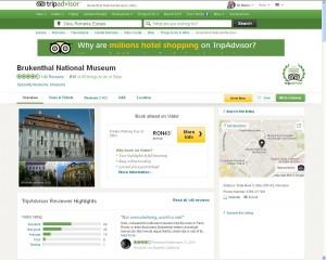 Muzeul Naţional Brukenthal, dublă distincţie Tripadvisor