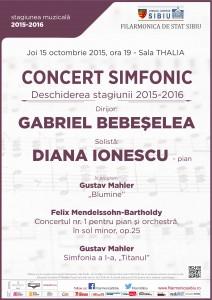 Filarmonica de Stat Sibiu – deschidere de stagiune