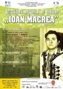 """Festivalul Naţional de Folclor """"Ioan Macrea"""", ediţia a XVII-a"""