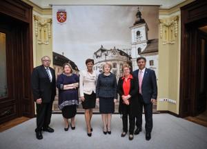 Delegație din landul Hessen, Germania, în vizită la Primăria Sibiu