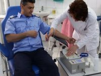 Jandarmii au donat sânge