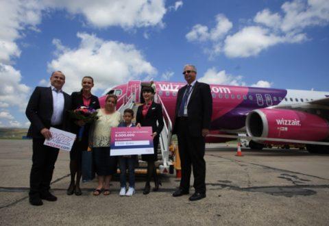 Wizz Air sărbătoreşte 6 milioane de pasageri de pe Aeroportul Internaţional Cluj