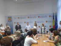 Ședință cu angajații și conducerea Consiliului Județean Sibiu | foto: arhiva Mesagerul de Sibiu