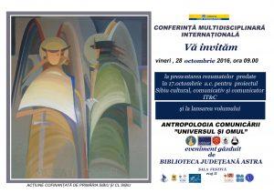 Conferință internațională de antropologie la Sibiu