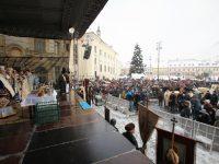 Sibienii sărbătoresc Boboteaza în Piața Mare