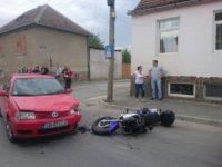 Motociclist accidentat în Lazaret