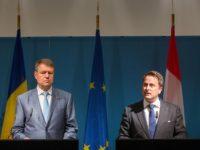 Președintele Klaus Iohannis și premierul Luxemburgului, Xavier Bettel / foto: Lex Kleren