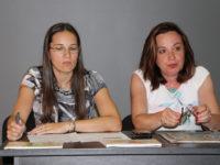 Muzeograful Elena Găvan și inspectorul școlar Daniela Muntean