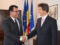 Prefectul Lucian Radu, la prima întâlnire cu noul consul al Germaniei în Sibiu