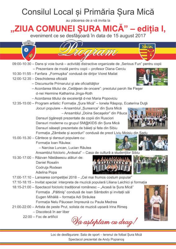 """""""Ziua comunei Șura Mică"""", la prima ediție"""