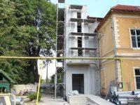 Pavilionul secției ORL a Spitalului Județean Sibiu,în plin proces de modernizare și extindere   VIDEO