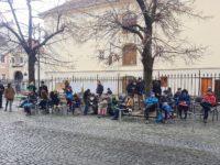 Protest în faţa sediului PSD Sibiu