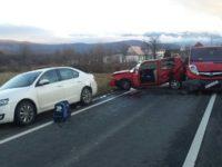 Șapte autoturisme s-au tamponat pe DN7 și DN1   FOTO