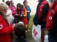 Alimente de la Crucea Roșie pentru nevoiașii din colonia Seviș