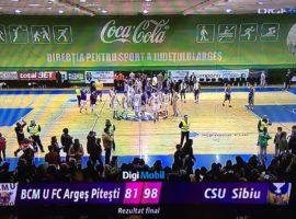BC CSU Sibiu obține o nouă victorie la Pitești
