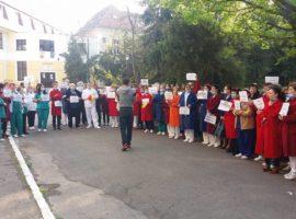 Protestul angajaților de la Spitalul TBC