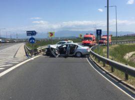 Accident cu trei răniți