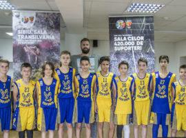 Sala Transilvania, oferită gratuit pentru antrenamente juniorilor de la BC CSU Sibiu U13