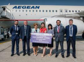 """Aeroportul Internațional """"Avram Iancu"""" Cluj lansează zborurile spre Atena operate de compania aeriană Aegean Airlines"""