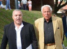 Ioan Holender (dreapta) și Constantin Chiriac, președintele FITS (stânga) / foto: Sebastian Marcovici