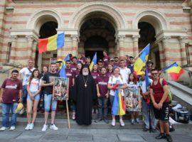 Participanții la Marșul Centenarului au fost primiți la Catedrala mitropolitană din Sibiu