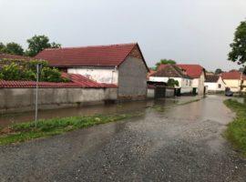 Inundații în Cisnădie și Sadu