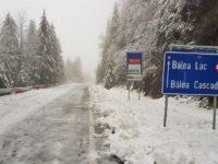 Stratul de zăpadă de la Bâlea Lac măsoară 13 centimetri