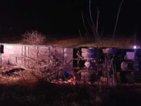 Un autocar cu 72 de persoane care venea din Spania s-a răsturnat în Hunedoara