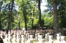 Depunere de coroane la Monumentul eroilor din Pădurea Dumbrava