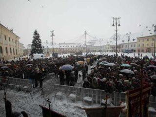 Peste 12 tone de agheazmă, pregătite pentru Bobotează la Sibiu