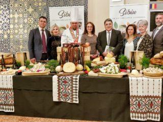 Standul Sibiului a fost amenajat după conceptul programului Regiune Gastronomică Europeană 2019