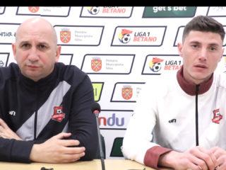 Antrenorul Vasile Miriuță și fundașul Cătălin Pîrvulescu