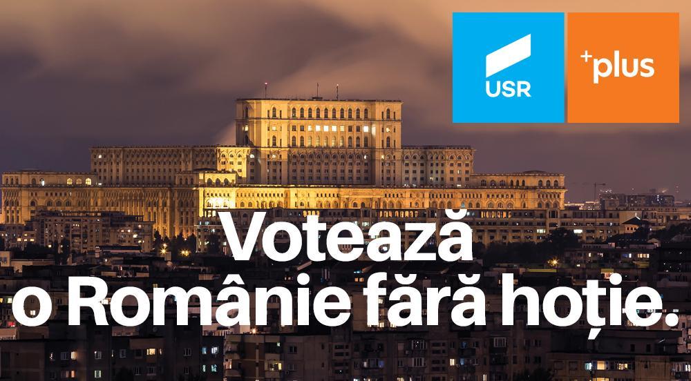 USR PLUS, votul tău pentru o Românie fără hoție (P.E.)