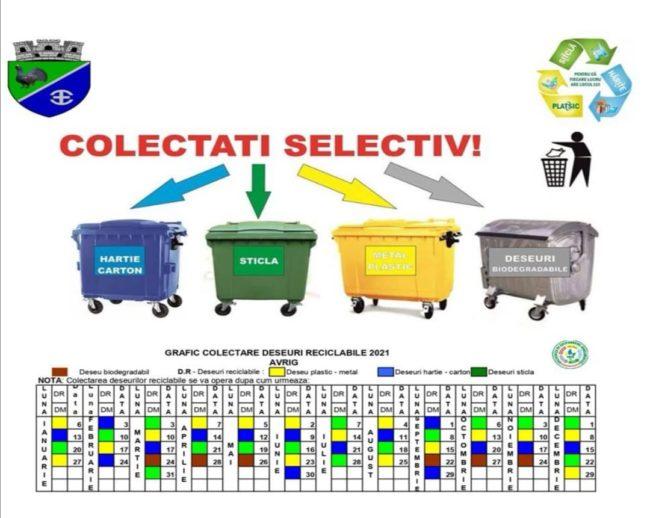 Deșeurile reciclabile se colectează separat și la Avrig