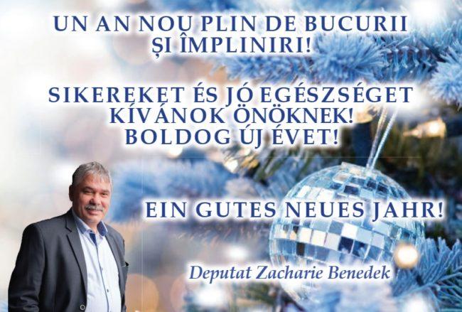 Mesajul deputatului Zacharie Benedek (UDMR) cu ocazia sărbătorilor de iarnă (P)