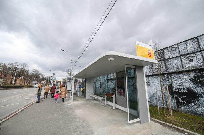 Stația smart de autobuz din Piața Teatrului a fost pusă în funcțiune