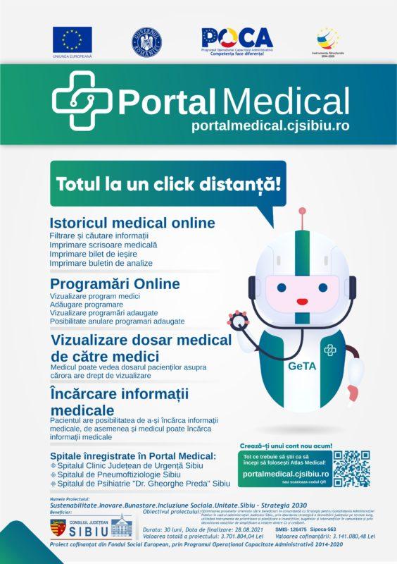 Platforma PORTAL MEDICAL – Gata cu dosarul cu șină!