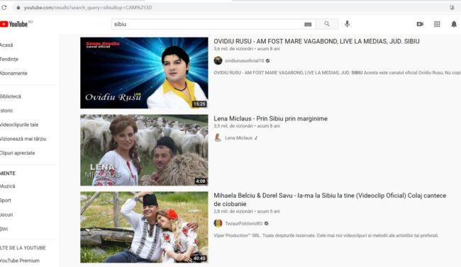La ce se uită sibienii pe YouTube?