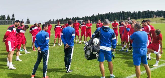 Cantonament de echipă mare, în Slovenia
