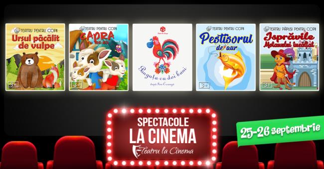 Stagiunea Teatru la Cinema ajunge și la Sibiu