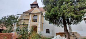 Au început lucrările de reabilitare a Bisericii Evanghelice Fortificate din Miercurea Sibiului